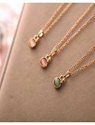 Collar Colgante ( Piedra Preciosa y Cristal Bonito/Casual