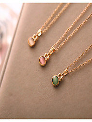 Rabbit Crystal Opal Pendant Necklace Cute/Casual Gemstone & Crystal Pendant Necklace