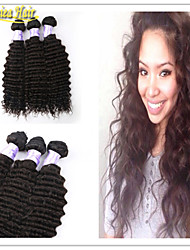3pcs / lot capelli brasiliani dell'onda profonda dei capelli vergini 3bundles extension di capelli naturali non trattati trama dei capelli