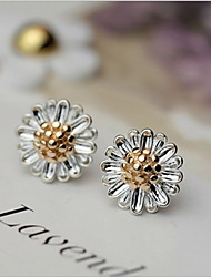 925 sterling silver earpins little Daisy earpins fresh female Autumn and winter Prevent allergies