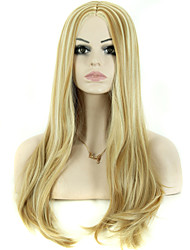 Fake Hair Wigs 28 Inch Long Wave Blonde Synthetic Wig
