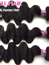 "3 Pcs /Lot 8""-30"" Malaysian Body Wave Virgin Hair Wefts Natural Black 1B# Remy Human Hair Weave Bundles"