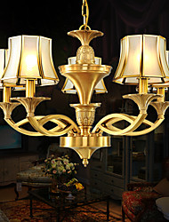 MC051-8Hlight fixture Interior Decoration Antique Brass Chandelier