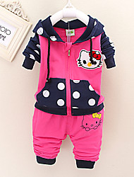 Girl's Cotton Blend Clothing Set , Spring/Fall Long Sleeve,Kids  Cotton Clothes,For 0-4 Years Old Baby, Fashion