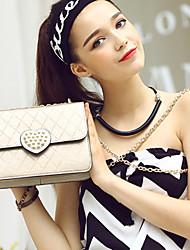 HOWRU @ The New Fashion Chain Satchel Small Package Love Heart-shaped Diamond Single Shoulder Bag
