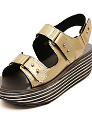 Women's Shoes  Wedge Heel Open Toe Sandals Casual Silver/Gold