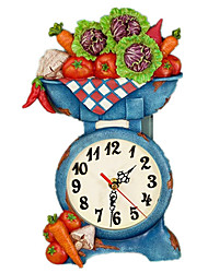 2015 New Arrival American Style Vegetable Scale Rural Fashion Beautiful Wall Clocks 12""