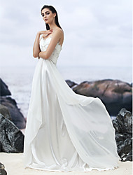 Lanting Bride A-line Wedding Dress-Court Train Sweetheart Georgette