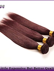 "3Pcs/Lot 10""-26""Brazilian Virgin Hair Straight Burgundy Pure Color 100% Human Hair Weaving 99J Rosa Hair Products"