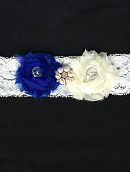 Liga Renda Flor / Imitação de Pérola / Strass Marfim