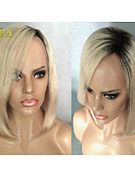 Wholesale 100% Virgin Brazilian Human Hair Blonde Short Bob Lace Front Wig Emma Wig