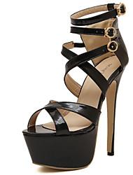 Scarpe Donna Vernice A stiletto Tacchi/Plateau/Comoda/D'Orsay/Aperta Scarpe col tacco Formale/Serata e festa Nero/Beige