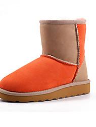 Zapatos de mujer - Plataforma - Plataforma / Botas de Nieve / Punta Redonda - Botas - Exterior / Casual / Deporte - Ante -Marrón /