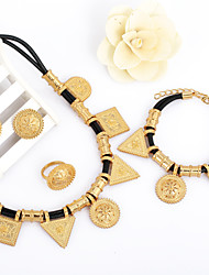 WesternRain Gold Plated Top Quality New Women Braided leather Jewelry High-grade Accessories Jewelry set