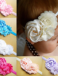 Infant Headbands Shabby Chic Flowers Pearl Rhinestone Chiffon Flowers Baby Headband Girls Hair Accessories