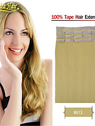 Remy Tape Hair Extension Indian Remy Human Hair 18inch-28inch PU Skin Human Hair Extensions in stock