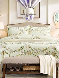 H&C Long Staple Cotton 1200TC Duvet Cover Set 4-Piece Flower Pattern MT7-001