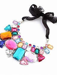 Candy color irregular stone necklace
