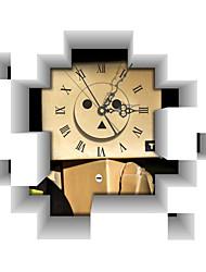 PAG®Modern Design 3D Effect Carton Pattern Clock Sticker 17.16*14.96 in
