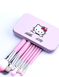 7pc Professional Cosmetic Makeup Make up Brush Brushes Set Kit With Pink Tin Box