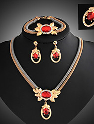 May Polly Europe retro Necklace Earrings Bracelet Ring Set