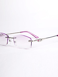 [Lentes Gratis] Mujer 's Ovalada Sin Montura Gafas de Leer