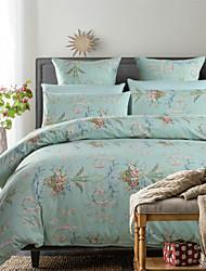 H&C Long Staple Cotton 1200TC Duvet Cover Set 4-Piece Flowers Pattern MT13-001