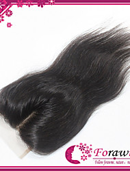 "Brazilian Virgin Straight Hair Lace Closure 120% 3.5*4 Inch Middle Part Remy Top Lace Closure 10""-24"""