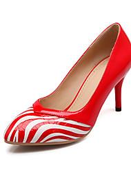 Scarpe Donna Finta pelle A stiletto A punta Scarpe col tacco Casual Nero/Rosso