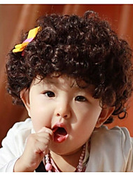 Children's Short Curly Hair Wig Head Explosion