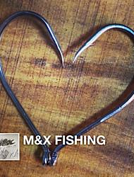 100Pcs High Carbon Steel Fishing Jig Hooks 2/0 Size Fishing Tackle Fish Hook MF0588