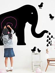 pvc éléphant tableau noir sticker mural respectueux de l'environnement