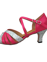 Customized Women's Latin Sandals Customized Heel Dance Shoes More Colors