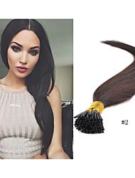 "18""-30"" Brazilain Hair Extension Straight Hair 100g/pack 1g/strand Pre-bonded Stick Hair I Tip Keratin Hair Extensions"