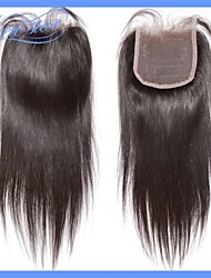 6A Grade Genuine Human Hair New Star Soft Silky Straight Hair Top Lace Closure 4*4 Free Part