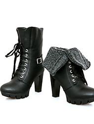 Women's Boots Spring / Fall / Winter Platform / Fashion Boots Leatherette  / Fashion boots  Lace up boots