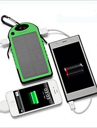 New 5000mAh Dual USB Port Waterproof Solar Power Bank Battery Charger for Phone
