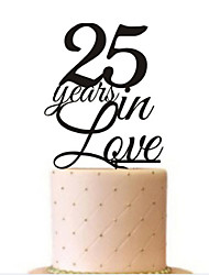 25 Years In Love Wedding Cake Topper