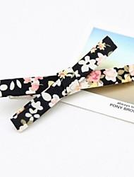 conjunto de seis coreano clipe de fita de tecido floral