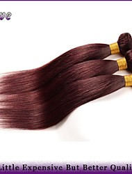 """3Pcs/Lot 10""""-26""""Peruvian Straight Virgin Hair Burgundy Pure Color 6a Remy Human Hair Extensions Queen Hair Products"""