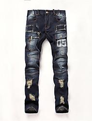 BIEPA® 2015 New Arrival Men's Jeans Newly Style Fashion Design Hole Patchwork Jeans Pants