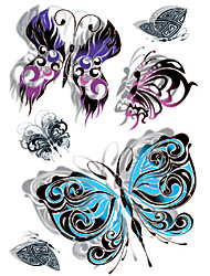 GOODTURN Tattoo Stickers Non Toxic/Lower Back/Waterproof Animal Series Teen Multicolored Paper 1 15*21 Butterfly