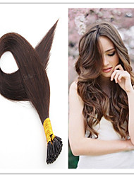 punta pegarse inclino extensiones de cabello recto 100s cabello natural 1 hebra / 100 g 1 g / lot