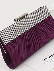 Women 's PU Minaudiere Clutch/Evening Bag - Purple/Brown/Red/Black
