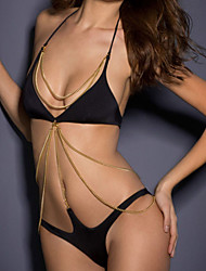 Women's Chained Embellishment One-piece Swimsuit