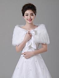 Wraps casamento (Marfim) - Pelo Artificial