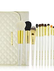 Make-up For You® 12pcs Makeup Brushes set Goat/Wool/Pony/Horse Hair Professional White Shadow/Blush/Brow Brush Makeup Kit