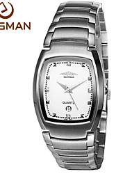 EASmann Brand Men Watches Men Business New Ripe Style Silver Calendar Quartz Watch Wristwatches 2015 New Watches For Men