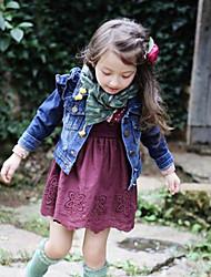 Girl's Denim Jeans , Spring/Fall Long Sleeve
