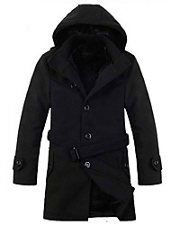 Hot-selling Plus Size Wool Coat Thickening Plus Velvet Thermal Trench  Men Winter Coat